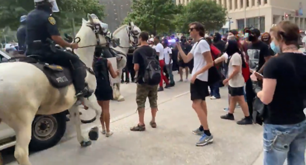 Houston Police Launch Investigation After Mounted Officer Tramples Woman at Protest - Video