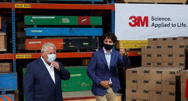 Canada Reaches Deal With 3M to Produce N95 Masks in Ontario