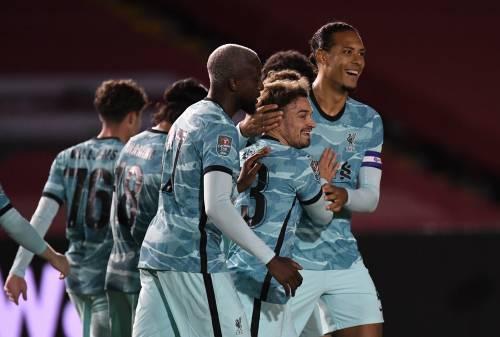 Curtis Jones shines as Liverpool thrash Lincoln to set up Arsenal showdown
