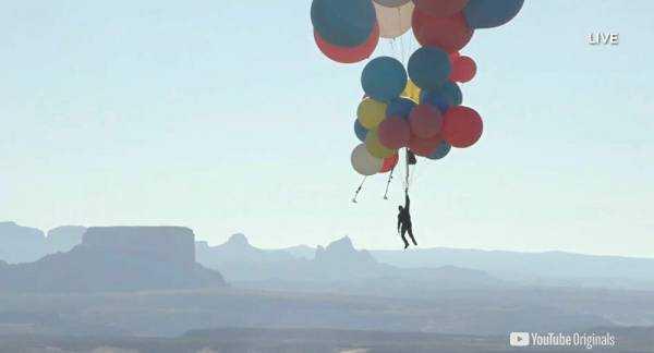 Ascension Accomplished! Illusionist David Blaine Floats 24,000 Feet into the Arizona Sky