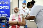 PM Modi Takes First Shot of Indian COVID-19 Vaccine as Second Phase of Inoculation Begins – Video