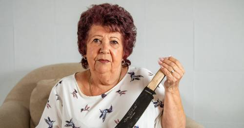 Shocked gran, 82, finds 12-inch machete wedged in sofa bought on Facebook marketplace
