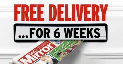 Free delivery of the Daily Mirror for six weeks