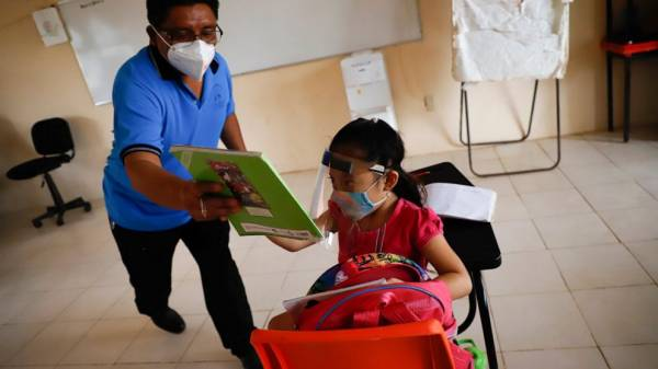 First schools reopen in Mexico in southern state of Campeche