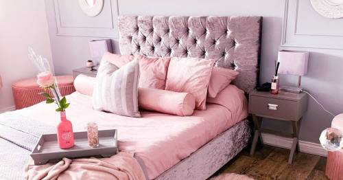 Woman, 29, splashes out £10k on turning her grey home into extraordinary pink palace