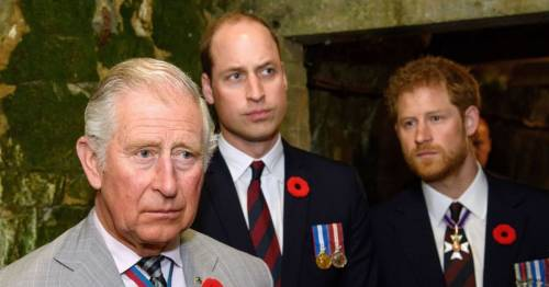 Prince Charles wants William to 'take lead' in healing Harry rift, royal expert says
