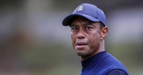 Tiger Woods driving at
