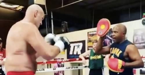 Tyson Fury's sparring partner sends