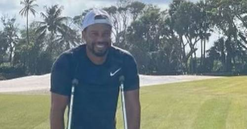 Tiger Woods shares first picture since horror car crash and reveals his injuries