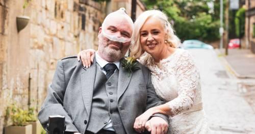 Terminally-ill man finally marries partner after first lockdown kept them apart