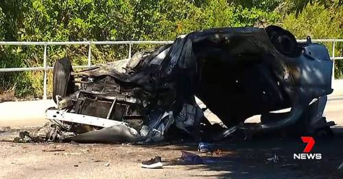 Tragedy as boy, 13, dies after car he was driving rolled and burst into flames – World News