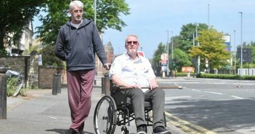 Wheelchair user claims 'disgusting' taxi driver left him stranded in the street