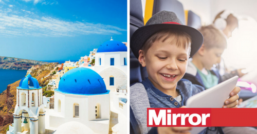 You can get free kids' places on flights to Greece for summer holidays