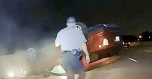 Cop 'flips pregnant woman's car over because she didn't pull over fast enough'