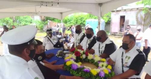 Emotional pictures show funeral of police officer 'shot by billionaire's daughter-in-law' - World News