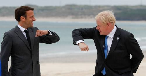Boris Johnson welcomes G7 leaders in rambling speech after elbow-bumps on the beach