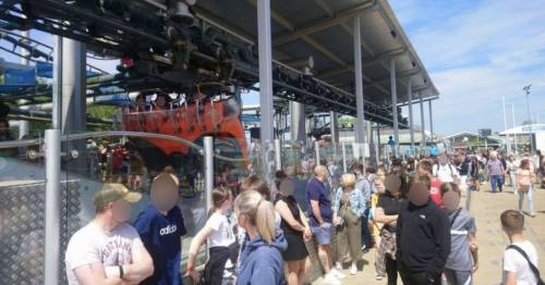 Flamingo Land trip 'ruined' as family forced to 'barge through crowds'