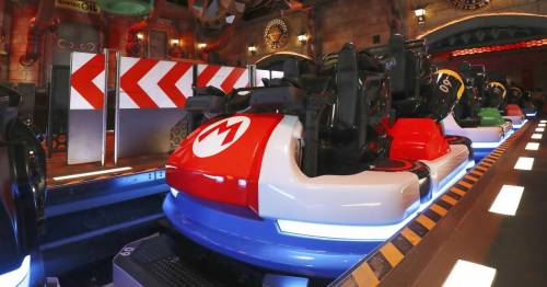 Super Nintendo World's new Mario Kart ride looks so fun as riders share sneak peek