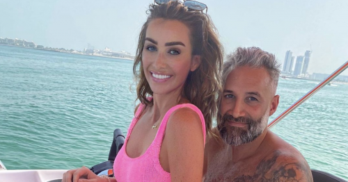 Laura Anderson and Dane Bowers look loved up in Dubai after moving abroad together