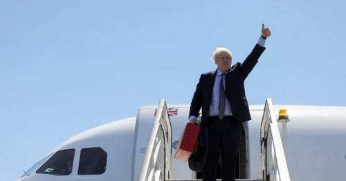 Boris Johnson flies by private jet to Cornwall to talk climate change with G7 leaders