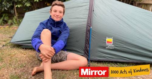 Boy, 11, who started sleeping in tent after friend died STILL braving cold 452 days later