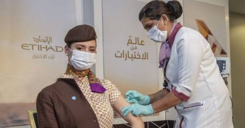 Etihad Airways is first airline to have vaccinated all of its pilots and cabin crew