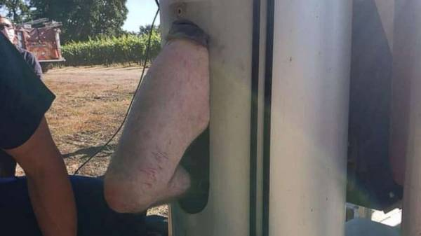 Man lucky to be alive after being found stuck inside farm equipment for 2 days