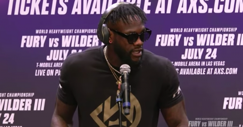 Deontay Wilder explains why he refused to answer questions at Tyson Fury press conference