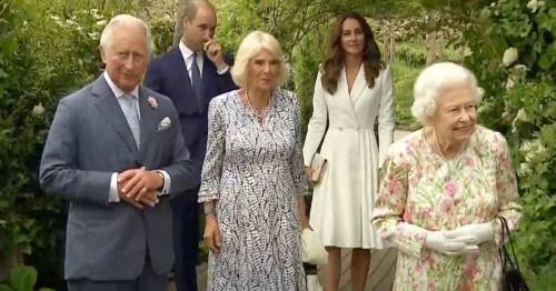 Senior royals seen together for first time since Lilibet's birth for G7 summit
