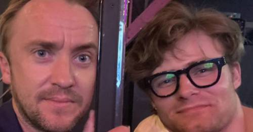 Tom Felton reunites with Harry Potter co-star and onscreen son at cinema screening