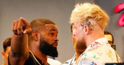Jake Paul believes Tyron Woodley wore heels to appear taller during face-off
