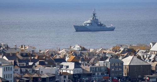 G7 Summit ring of steel in Cornwall with Navy warships, commandos and The Beast