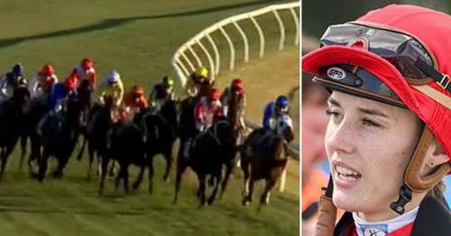 Jockey Laura Lafferty injured in shocking crash after horse hit barrier and landed on her
