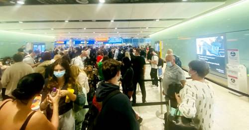 Heathrow passengers queue for 'hours' as 'e-gates break and staff are absent'