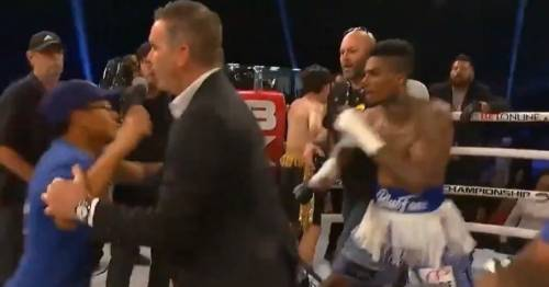 Rapper Blueface attacked in ring by fan after boxing debut against Kane Trujillo