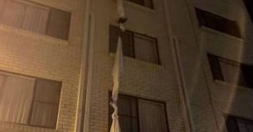 Man tied bedsheets to climb out of window and escape Covid hotel quarantine – World News