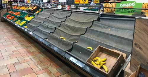 Pleas for double-jabbed supermarket workers to be exempt from pings as shelves go bare