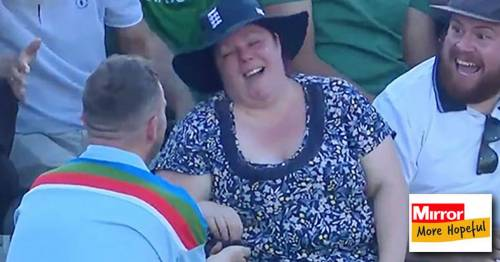 Man who proposed at England cricket match hopes stranger sat nearby will be his best man