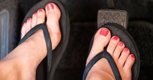 Driving in sandals or flip flops in a heatwave could land you a huge fine