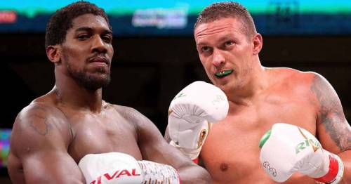 Anthony Joshua compares Tyson Fury to replacement opponent Oleksandr Usyk