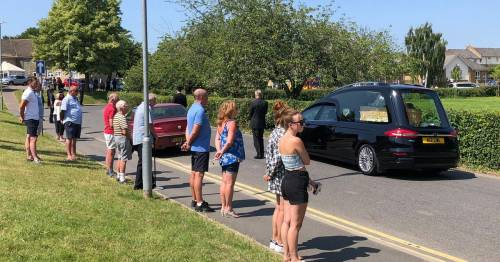 Mourners line the street for funeral of murdered police officer Julia James