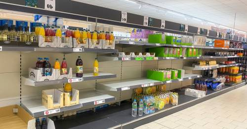 Supermarket shoppers complain of 'empty shelves' as 'supplies start to fail'