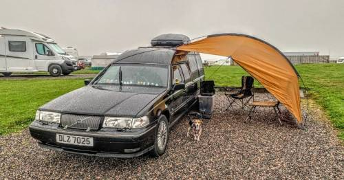 Couple tour the UK in £3,500 converted hearse dubbed the 'Grim Sleeper'