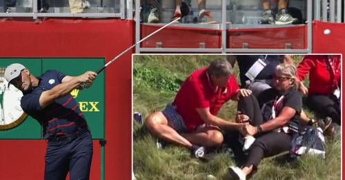 USA's Bryson DeChambeau slammed after hitting fan with opening tee shot at Ryder Cup