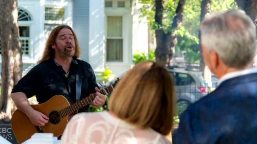 Hurricane Larry kept these newlyweds from seeing Alan Doyle live. So he played at their wedding