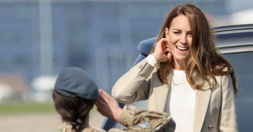 Kate Middleton visits RAF Brize Norton to thank troops for Kabul evacuation