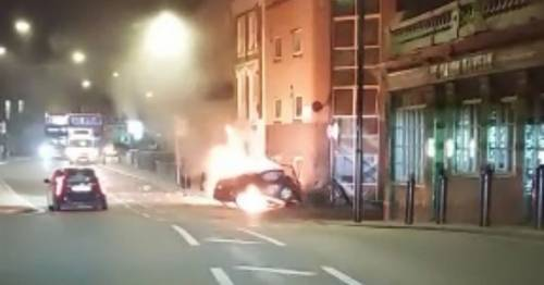 Trapped man screamed for pals to drag him out of car before it exploded and killed three