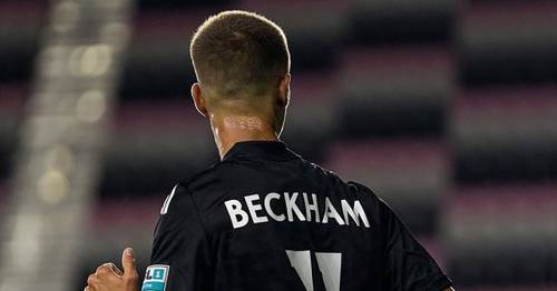 David Beckham's son Romeo follows in dad's footsteps on pro debut for Fort Lauderdale