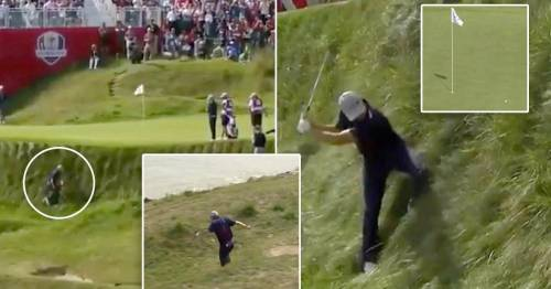 Jordan Spieth almost falls into Lake Michigan as he pulls off remarkable Ryder Cup shot