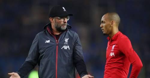 Fabinho gives Liverpool transfer advice to Jurgen Klopp as Reds midfielder eyes move